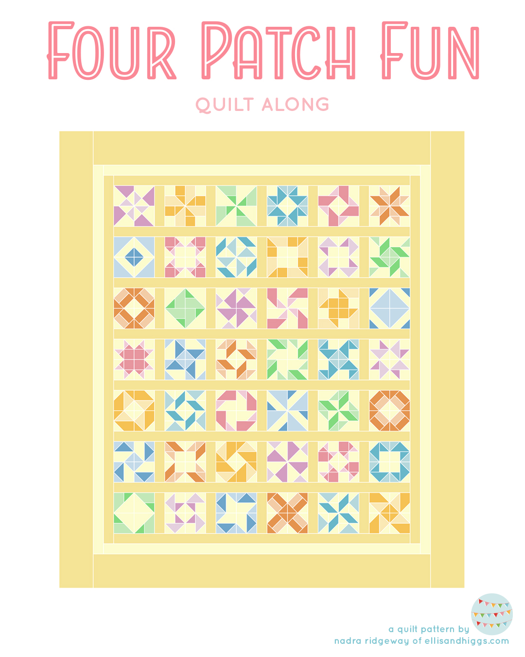 Four Patch Fun quilt layout