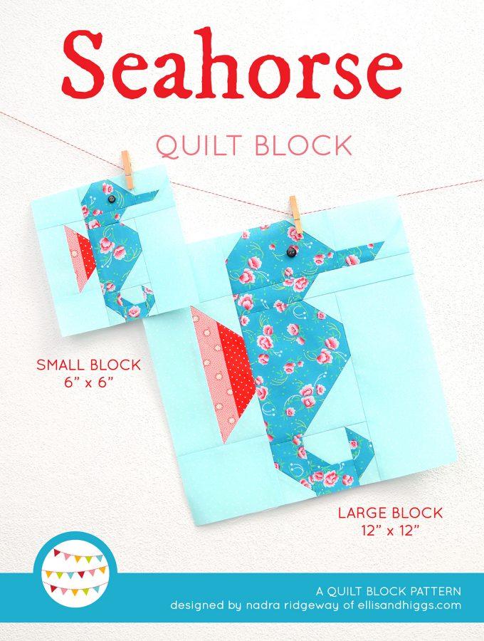 Seahorse quilt pattern