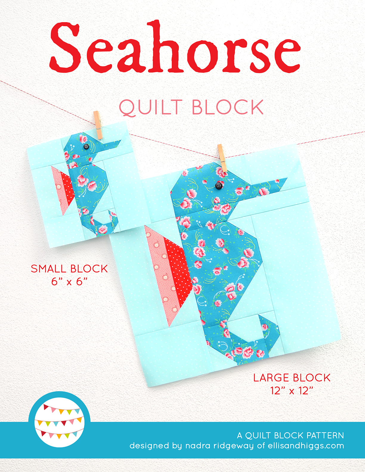 Seahorse quilt pattern
