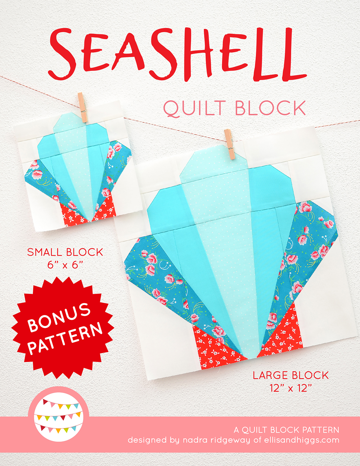 Seashell quilt pattern