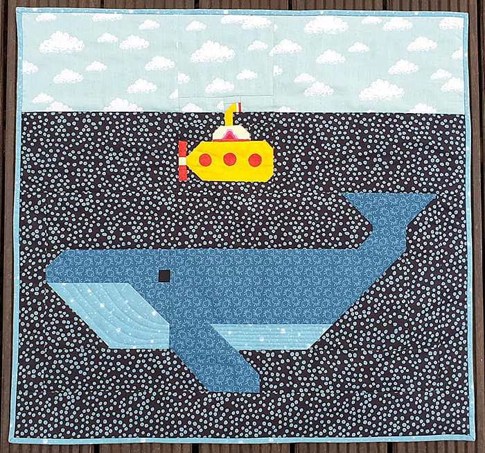 Whale quilt pattern
