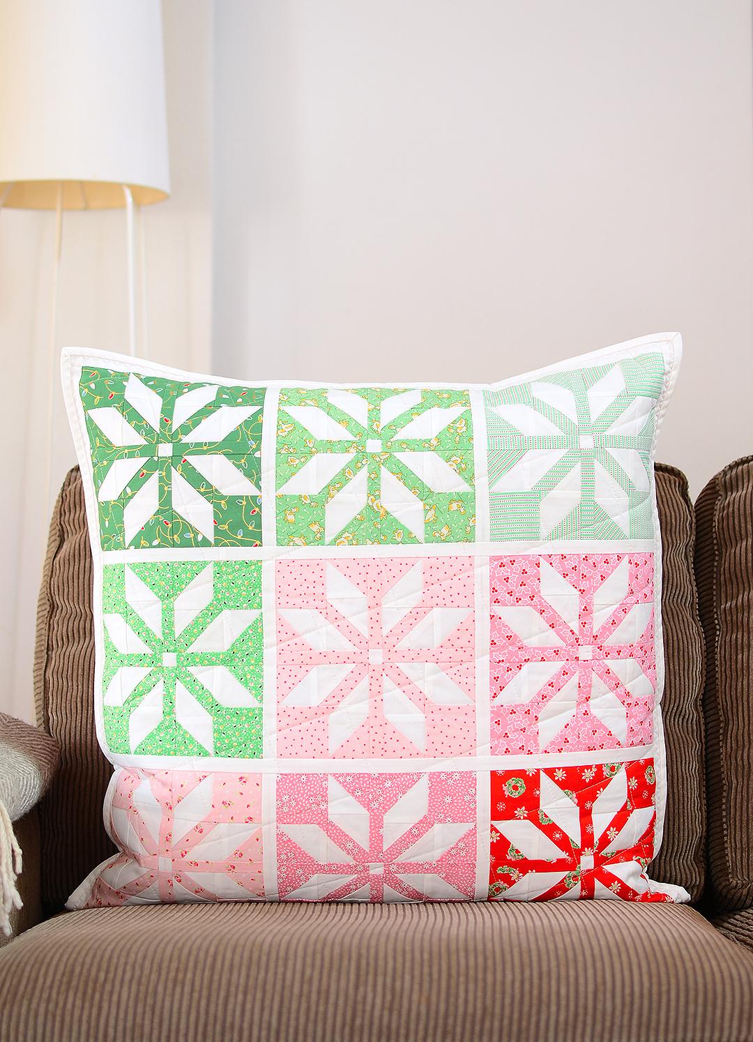 Star quilt pillow