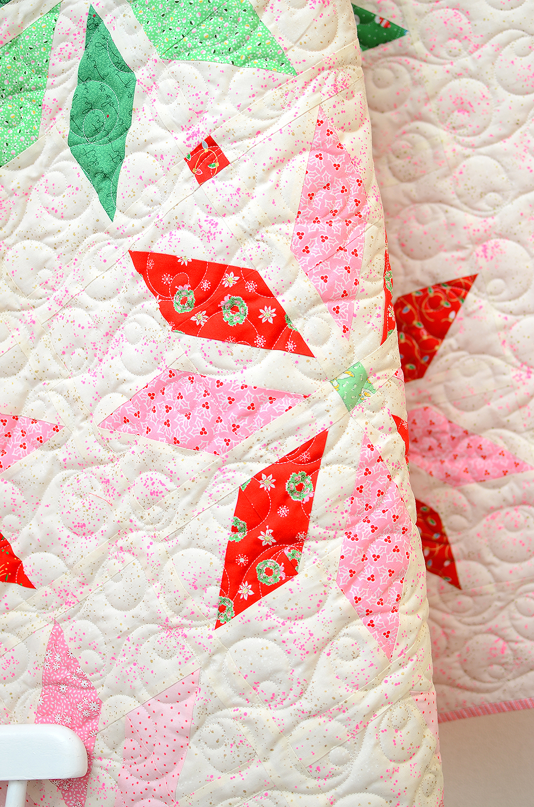 Christmas quilt with stars
