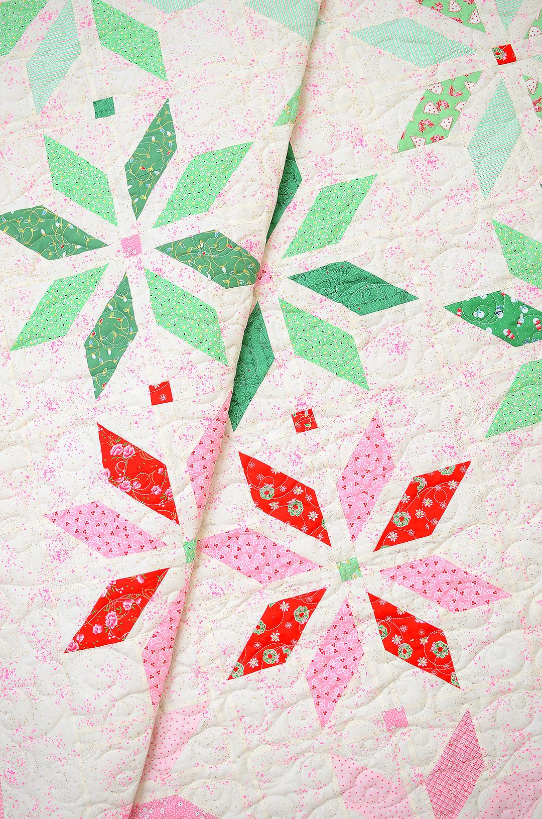 Folded Christmas quilt