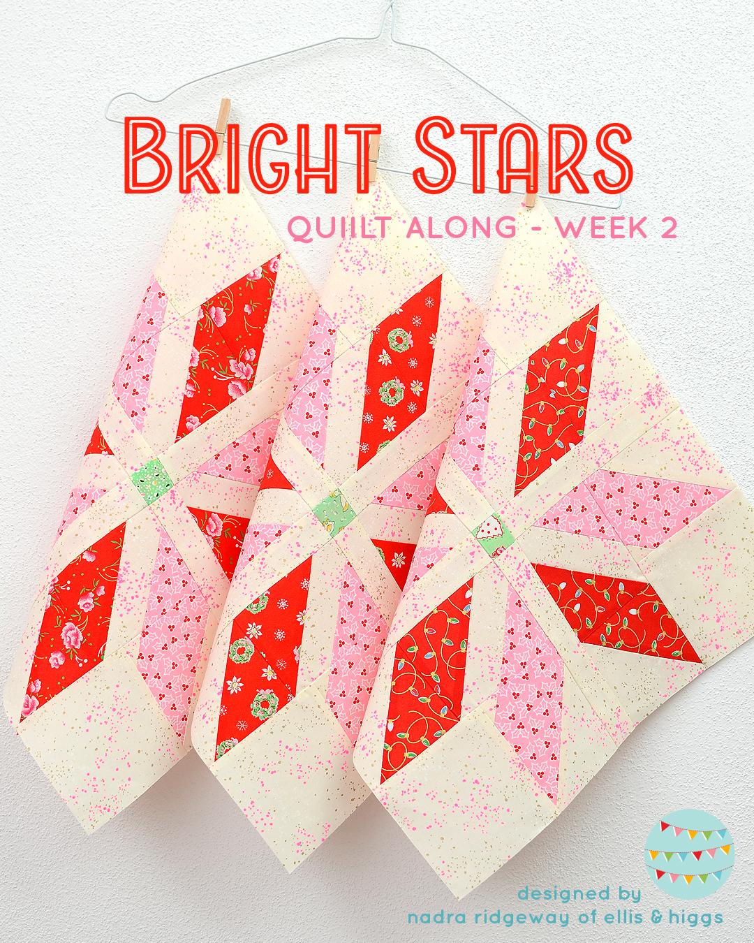 Red star quilt blocks