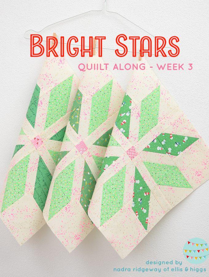 Dark green star quilt blocks