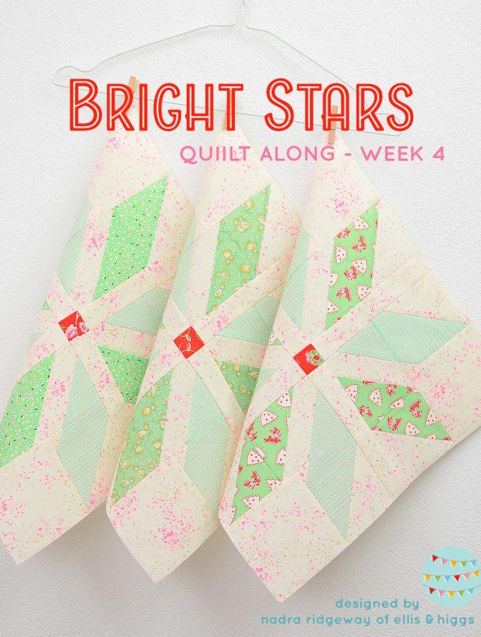 Light green star quilt blocks