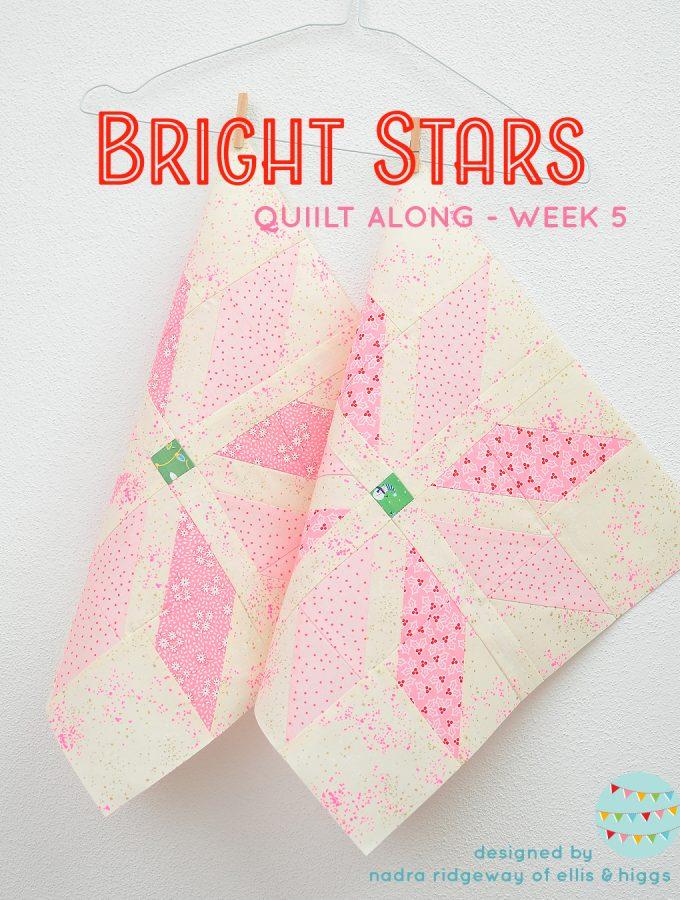 Pink star quilt blocks