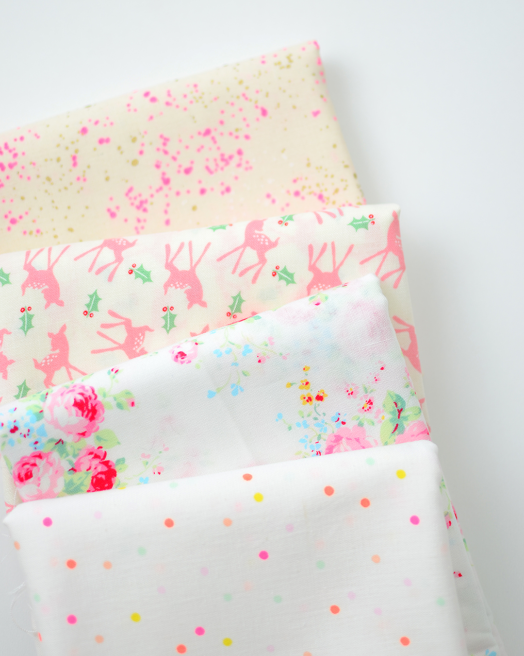 Christmas quilting fabric - Low Volume Prints