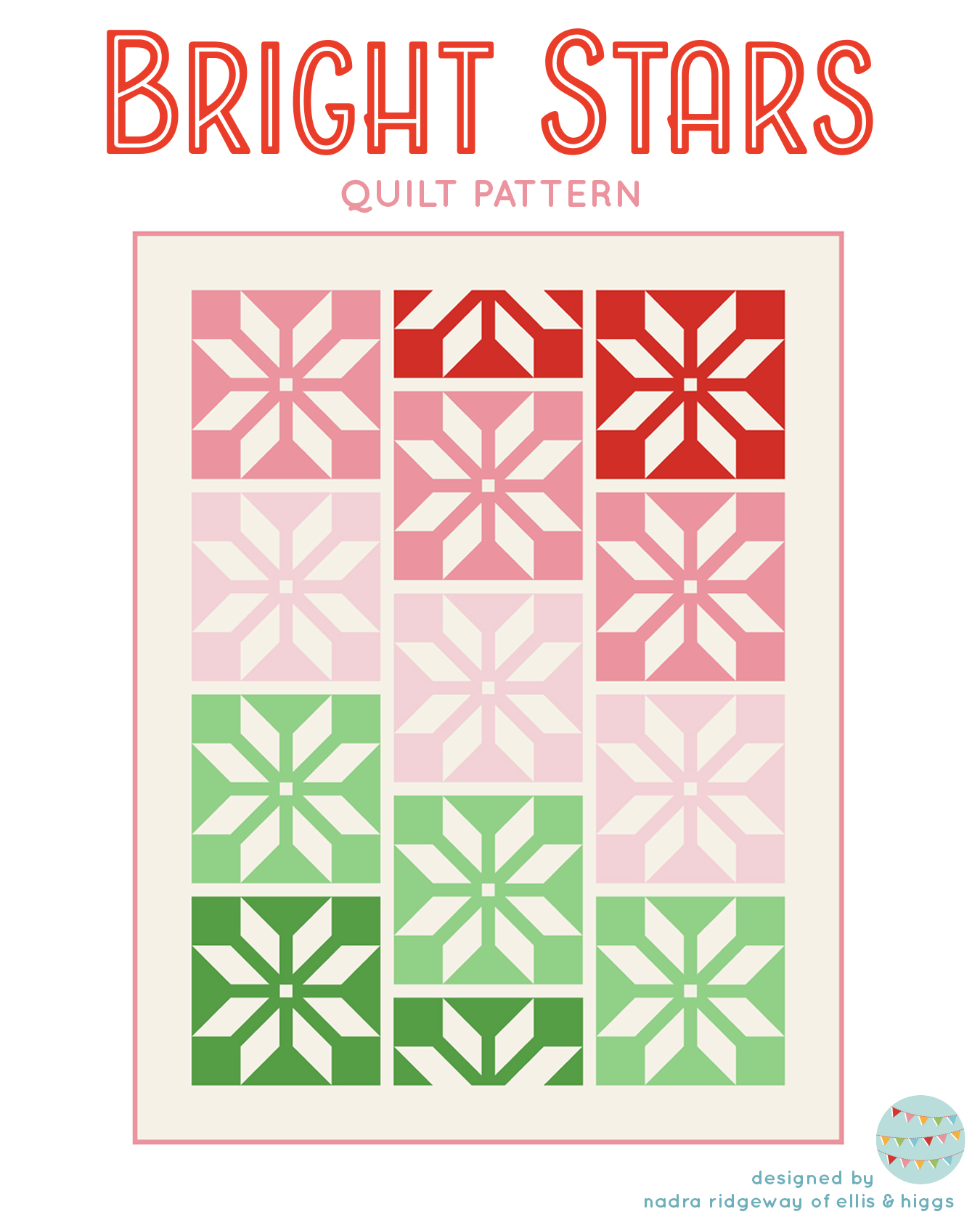 Christmas Quilt Pattern - Bright Stars Quilt Pattern