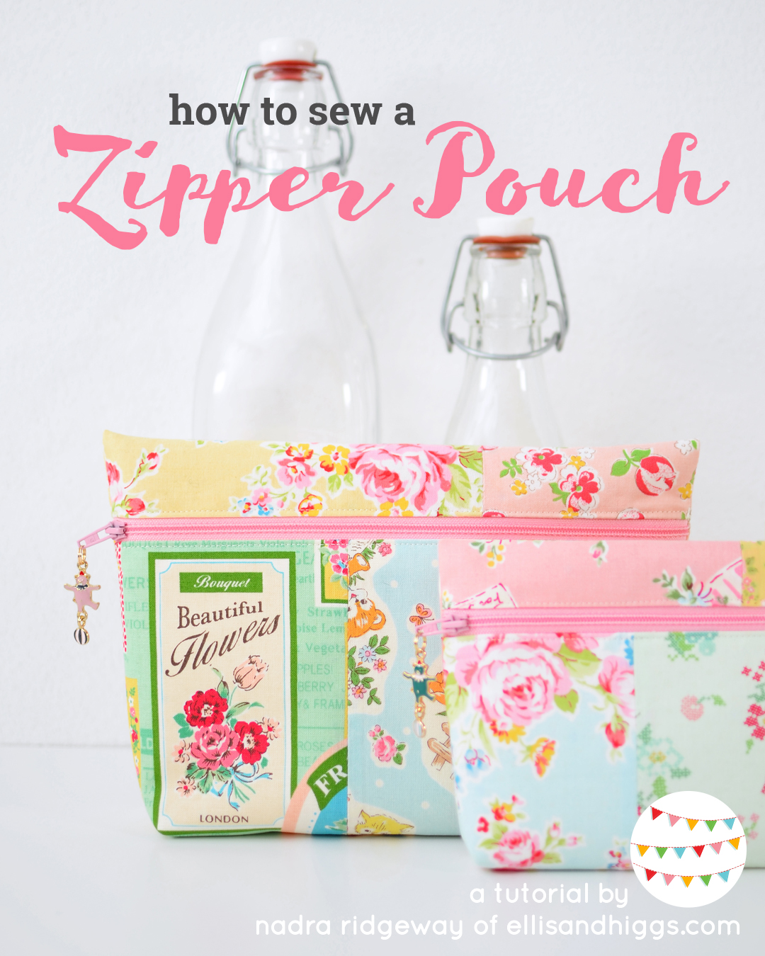 how to make a zipper pouch - easy sewing tutorial