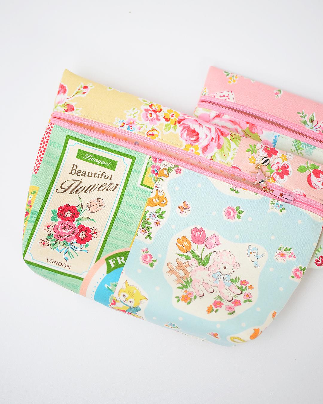 zipper pouch in two sizes