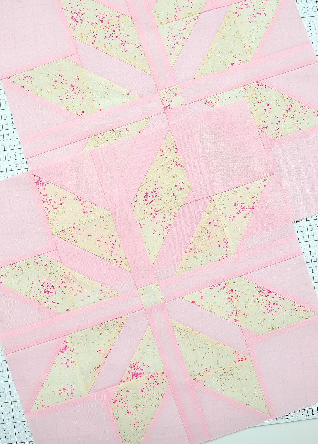 Light pink star quilt blocks