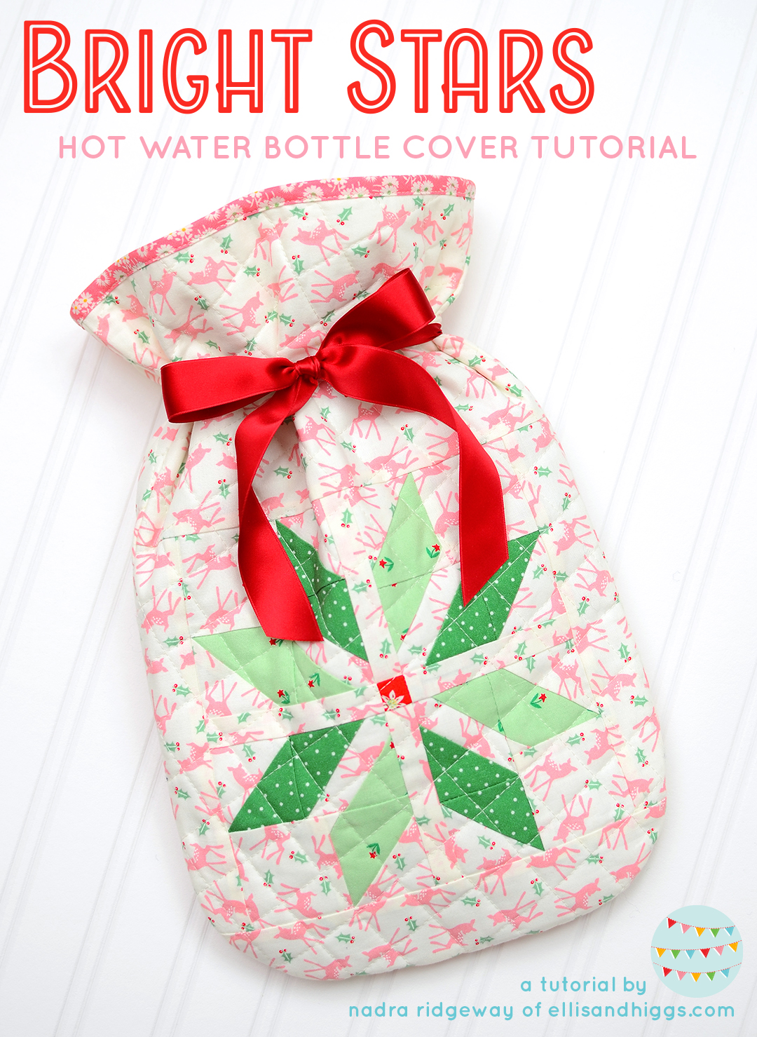 Christmas Quilt Pattern - Hot Water Bottle Cover Pattern