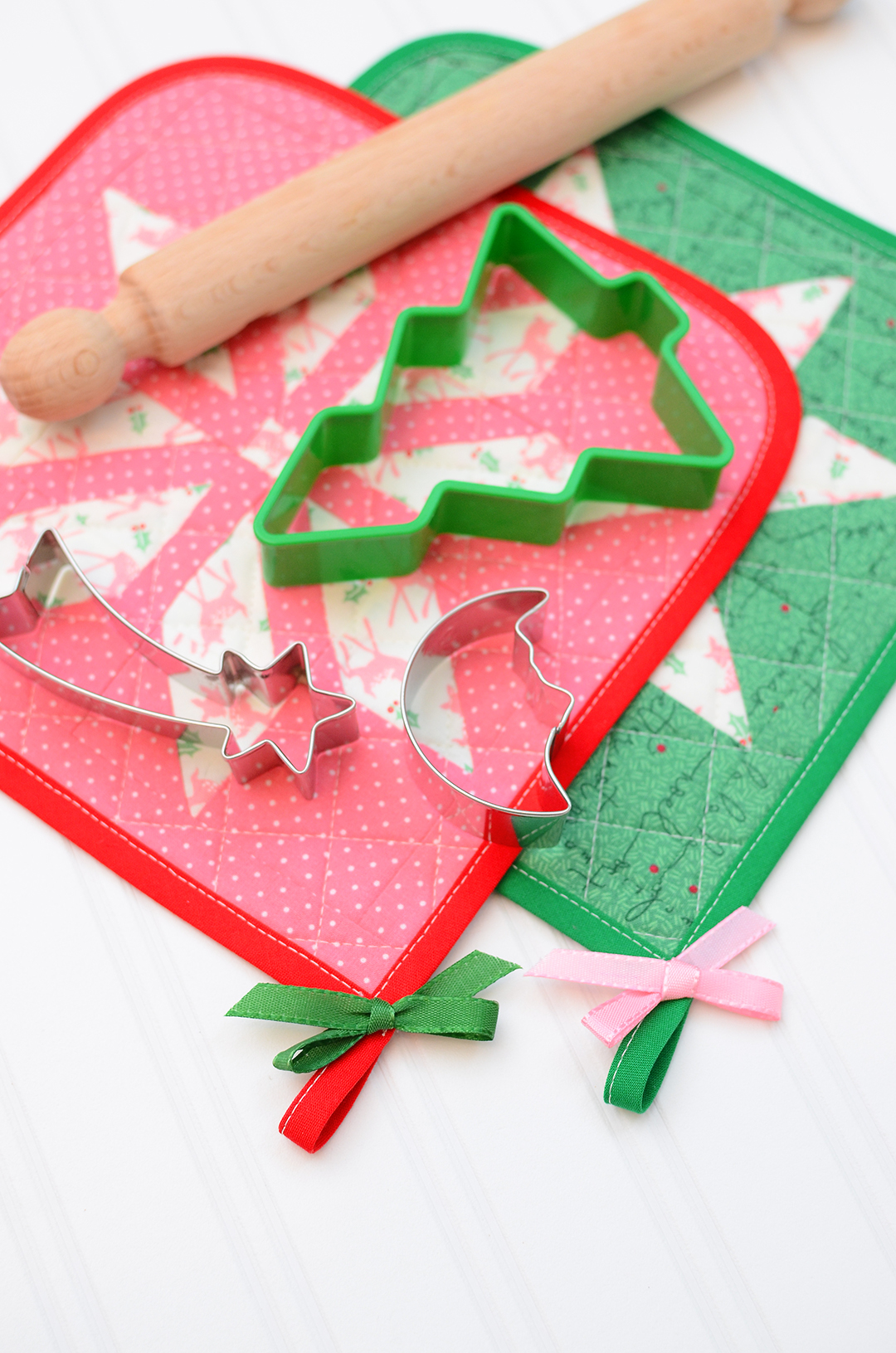 Christmas Quilt Pattern - Bright Stars Potholder