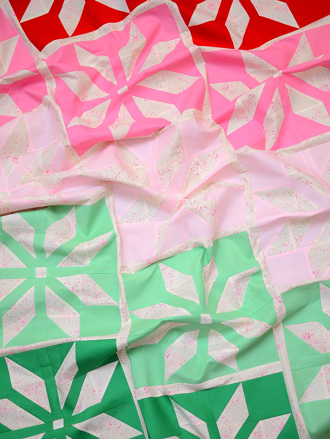 Christmas Quilt Pattern - Bright Stars Quilt Pattern
