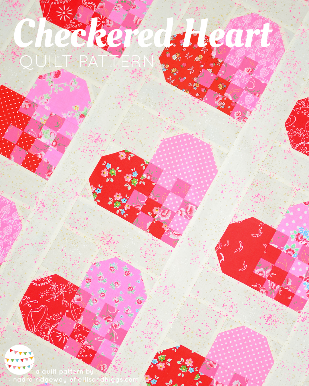 Checkered Heart Quilt Pattern