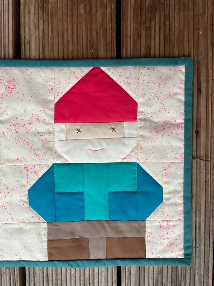 Gnome mini quilt