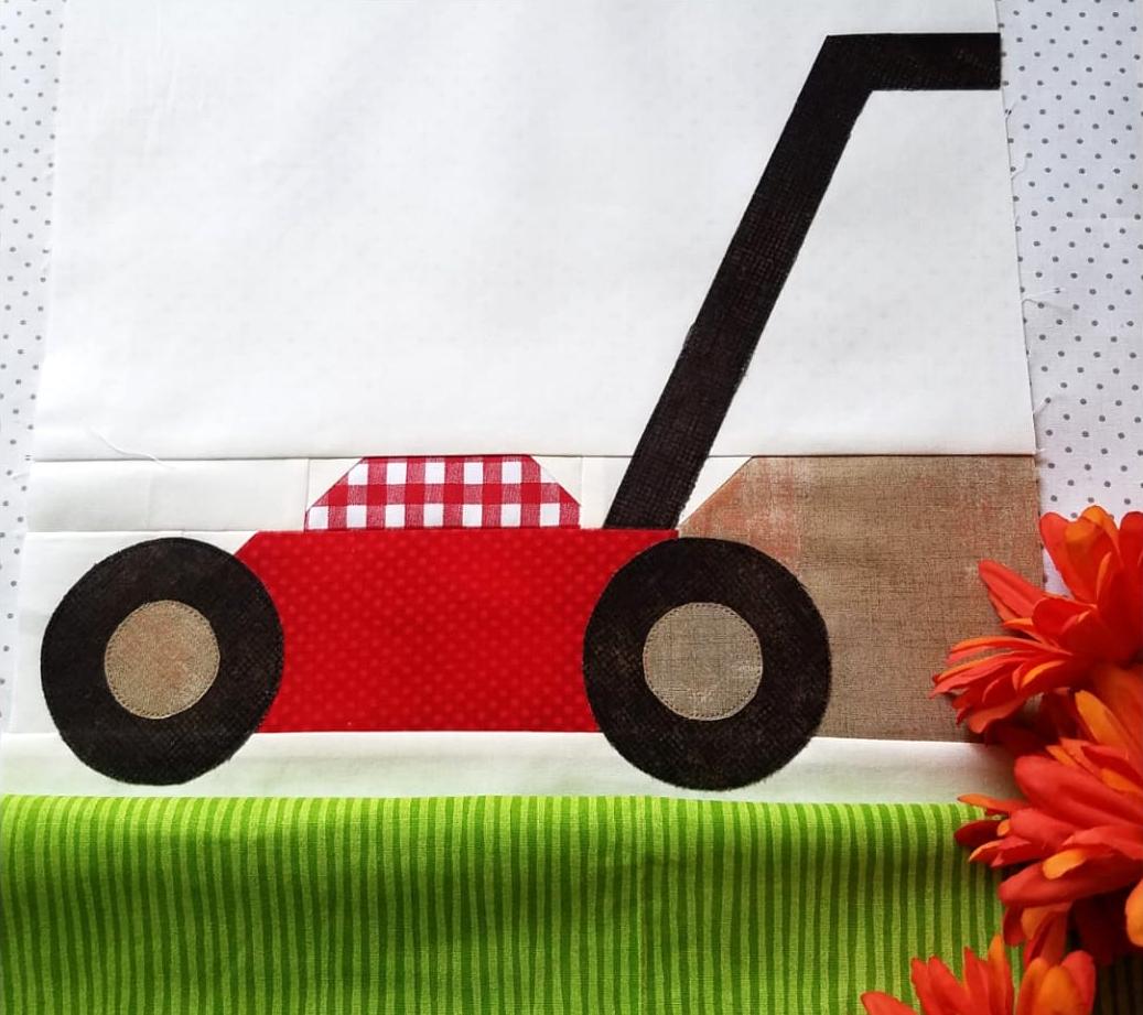 Lawn Mower quilt block