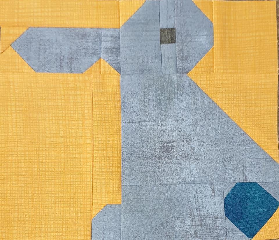 Yellow Bunny quilt block