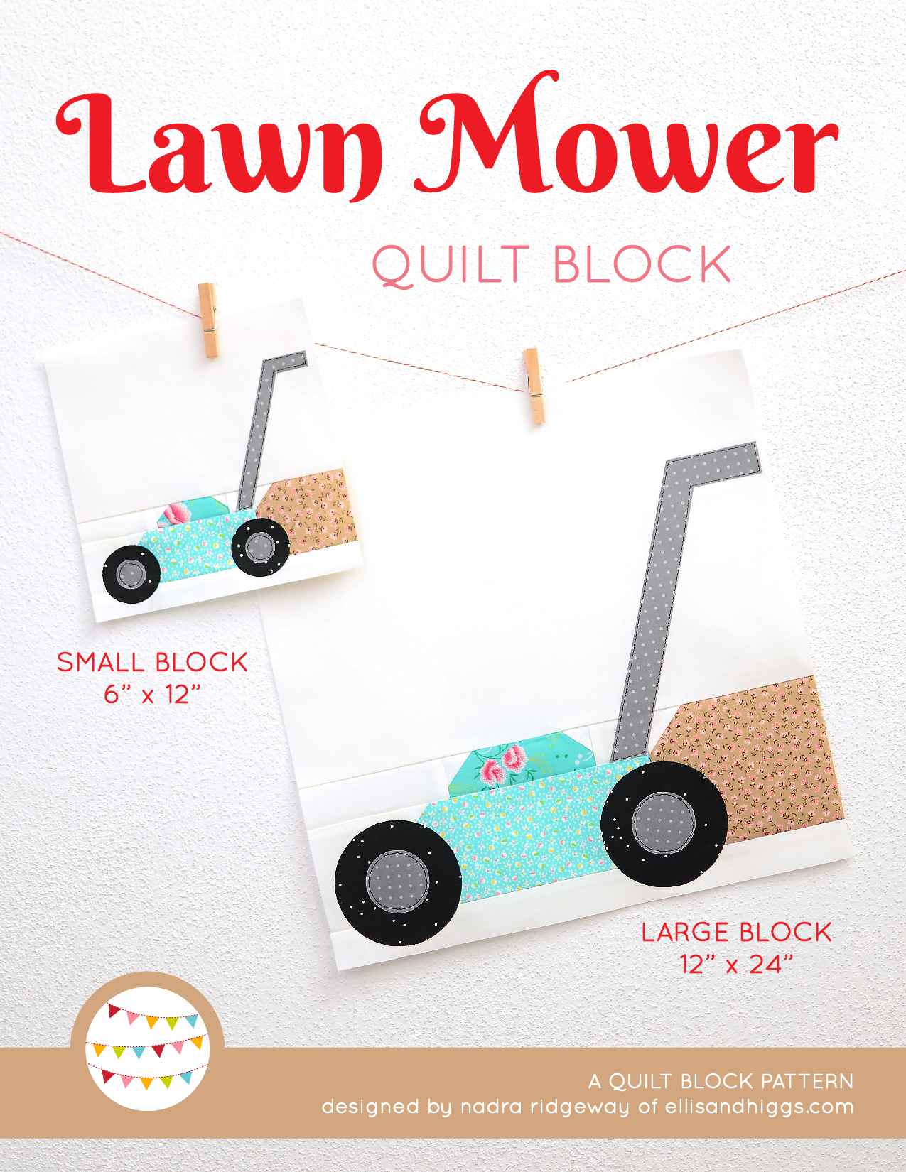 Lawn Mower Quilt Pattern