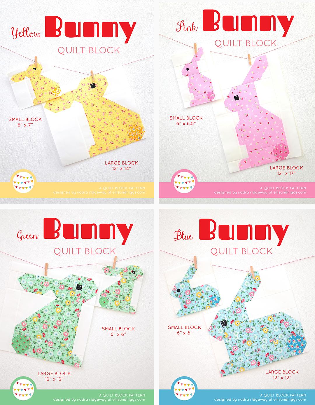 Bunny quilt pattern - Easter quilt pattern bundle