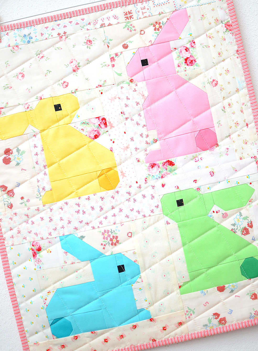Bunny Easter quilt pattern