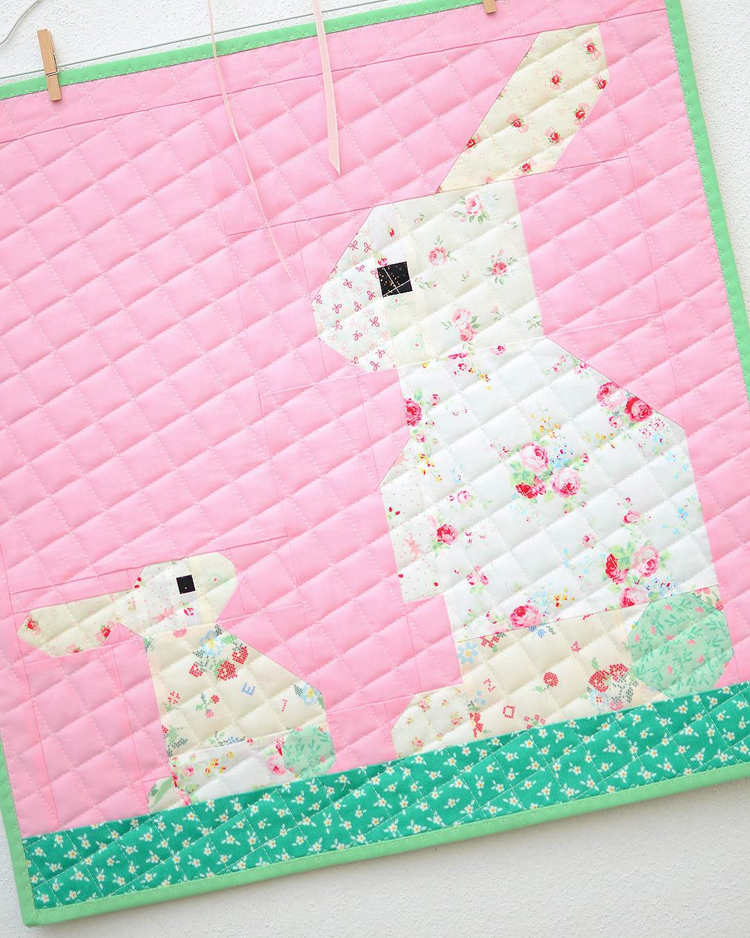 Easter Bunny mini quilt