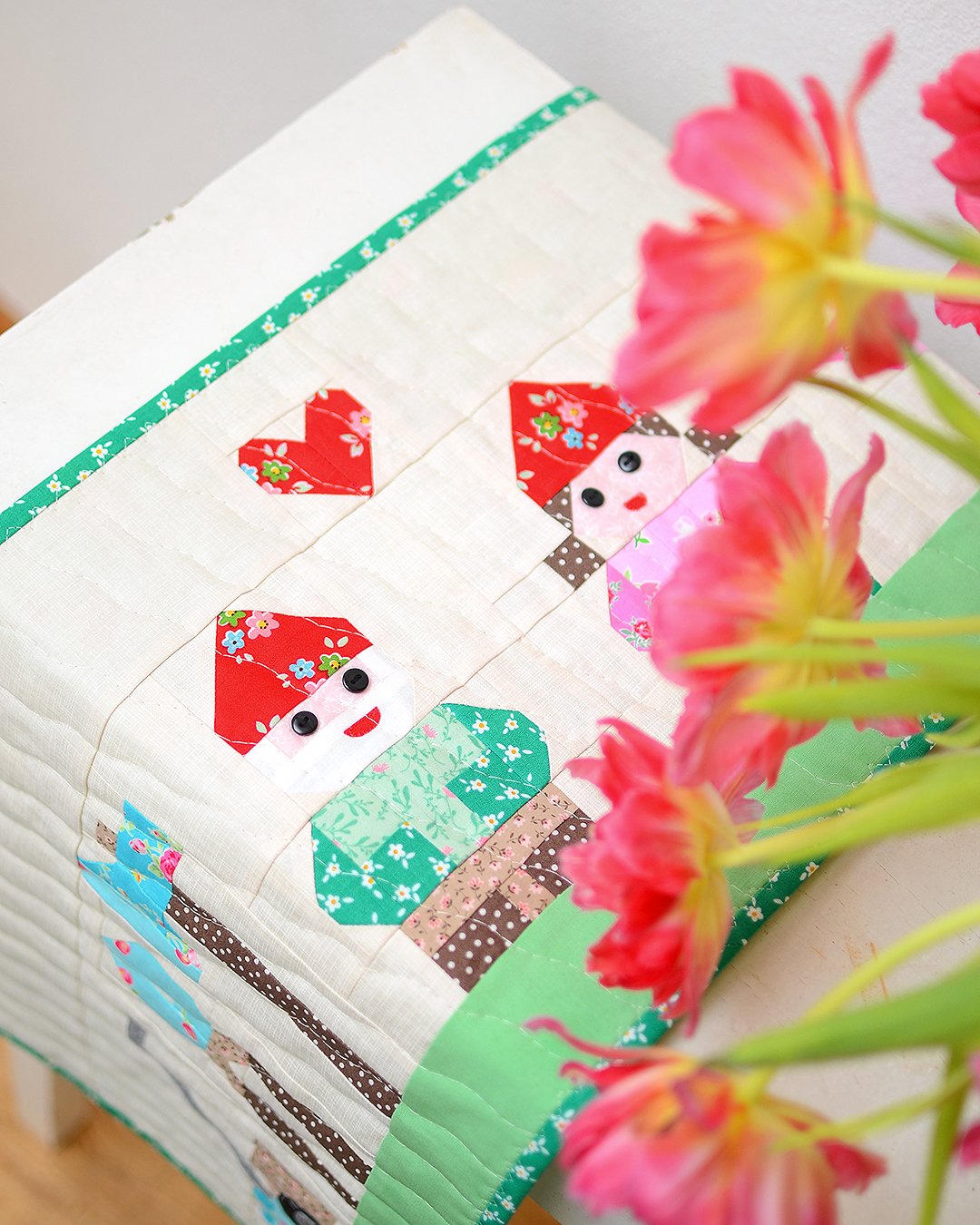 Hello Spring quilted table runner