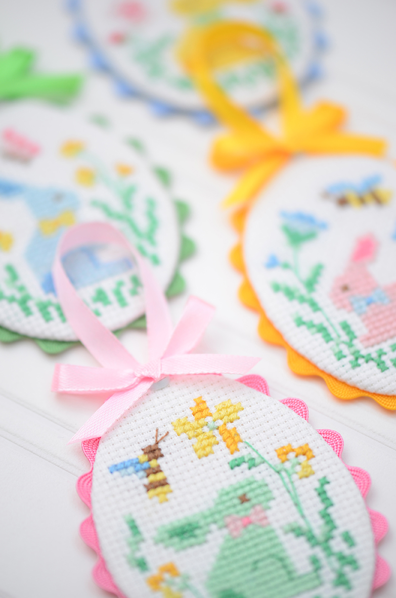 Easter bunny cross stitch patterns by ellis & higgs