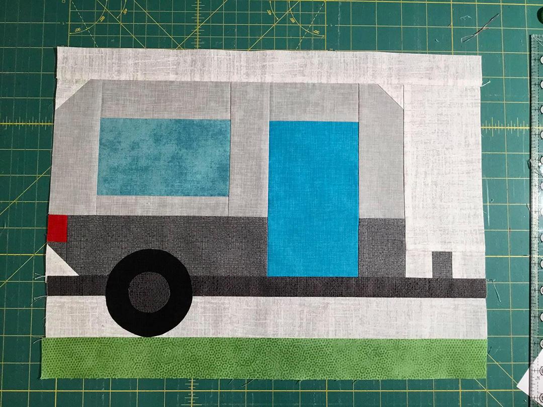 Camper quilt pattern - Camping quilt patterns
