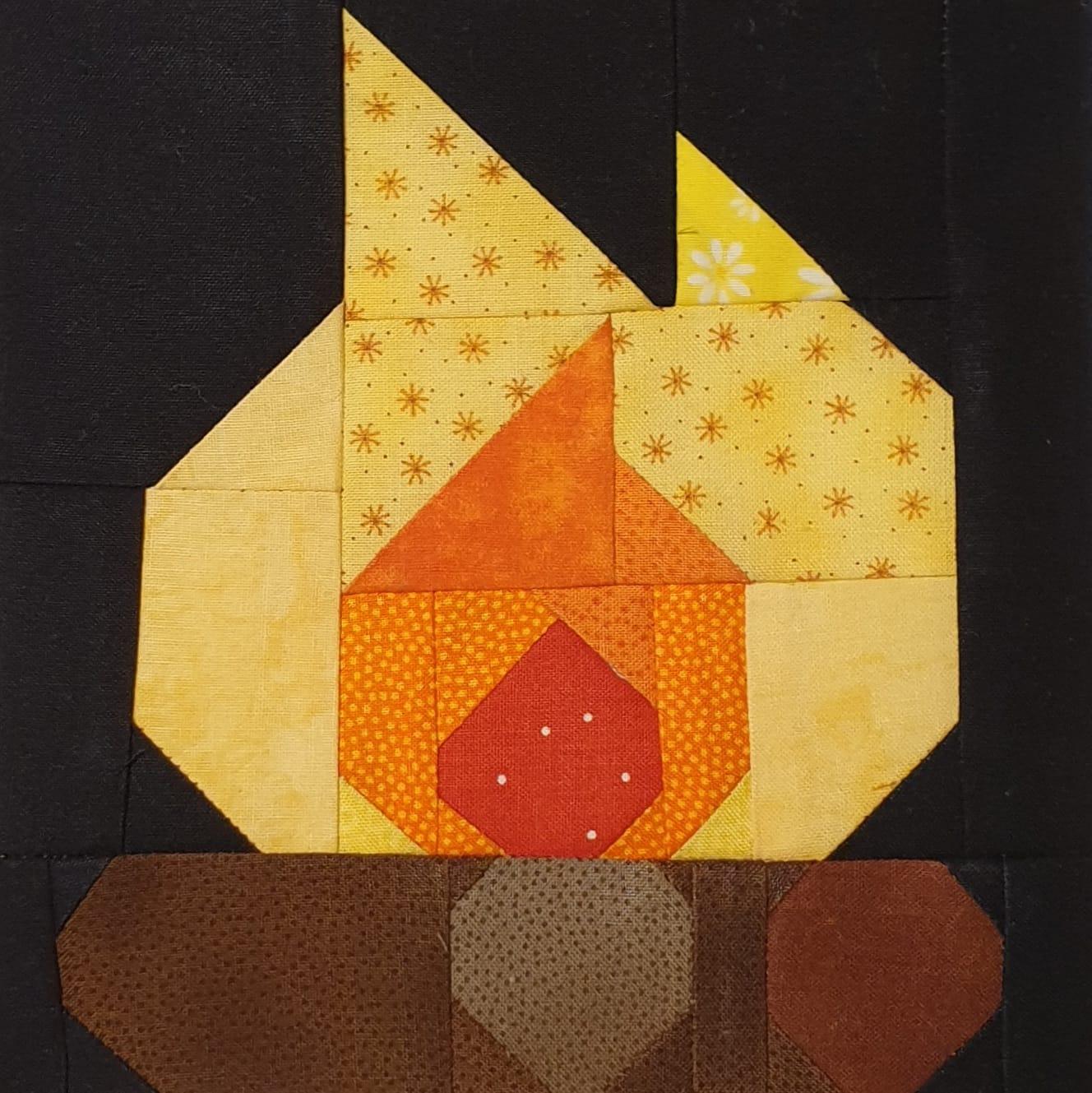 Campfire quilt pattern - Camping quilt patterns