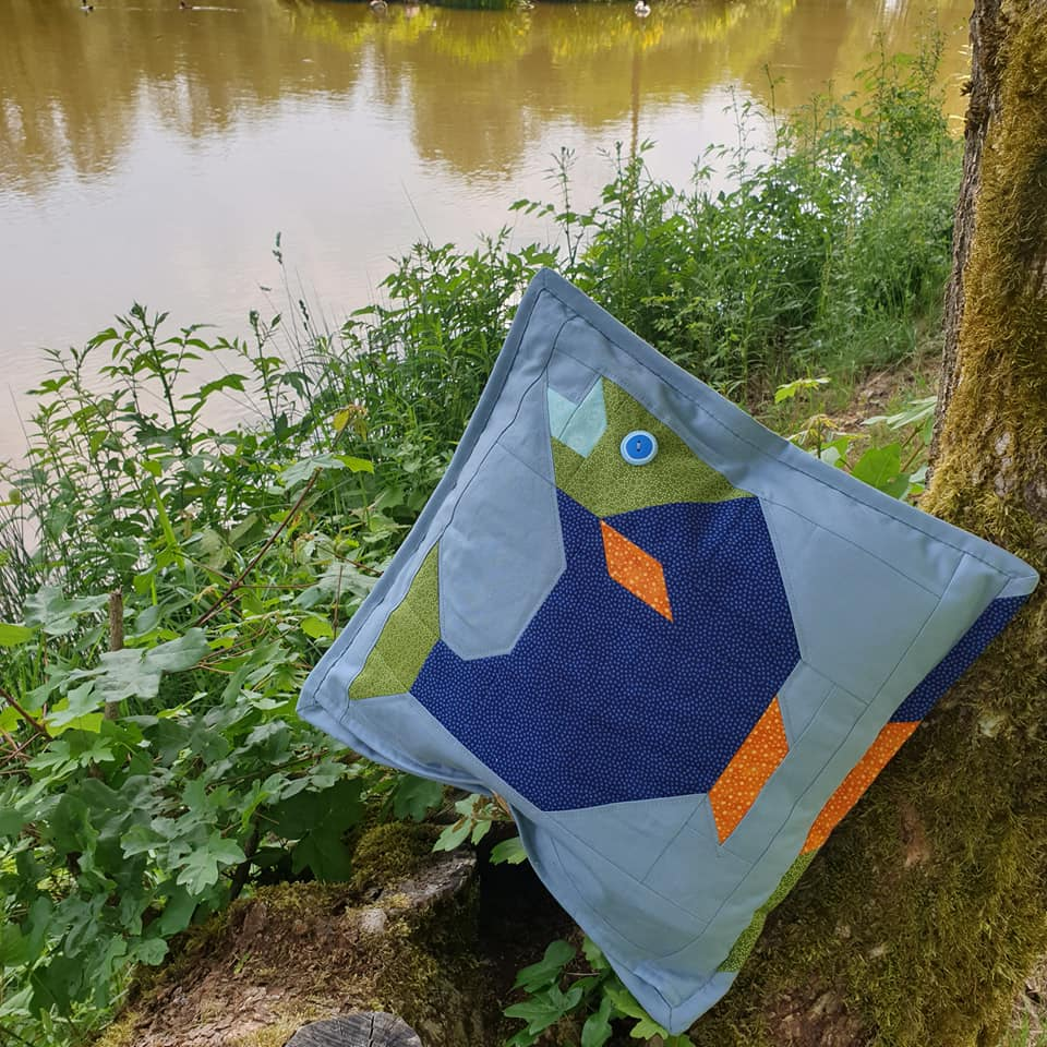 Red Salmon quilt pattern - Camping quilt patterns