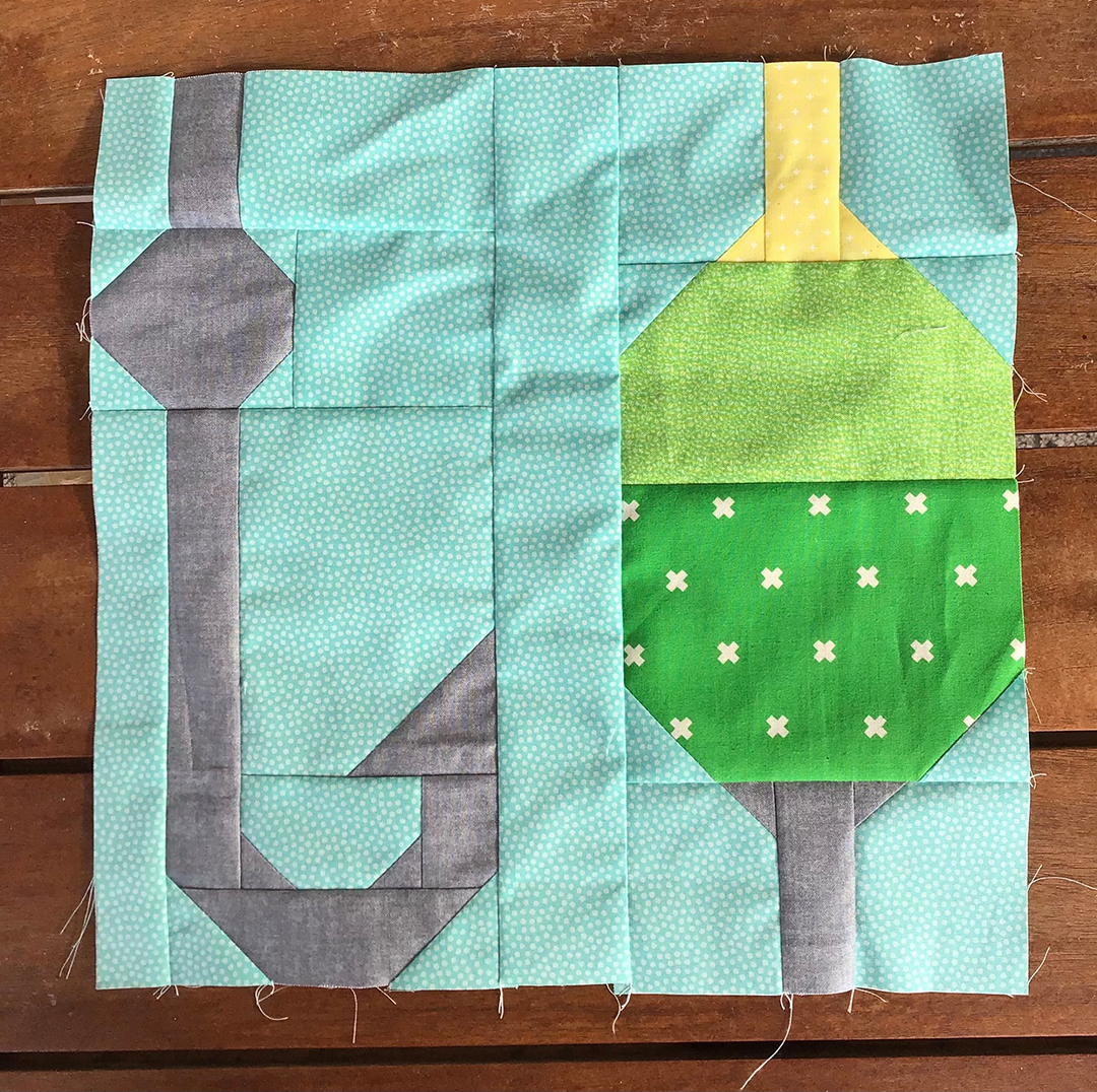 Fishing Tools quilt pattern - Camping quilt patterns