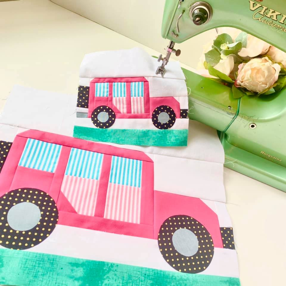 Offroad Car quilt pattern - Camping quilt patterns