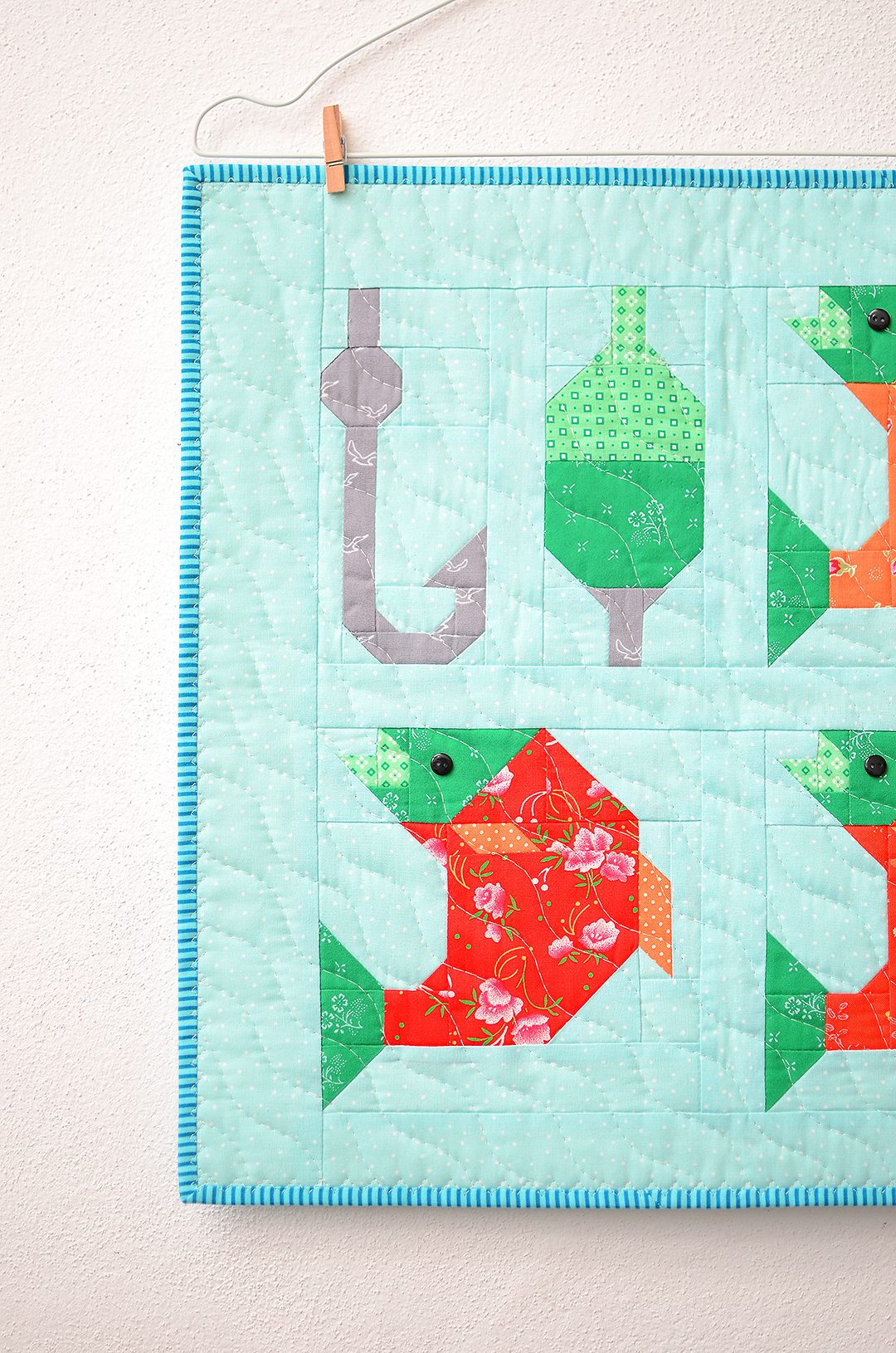 Let's go fishing mini quilt pattern - Camping quilt patterns