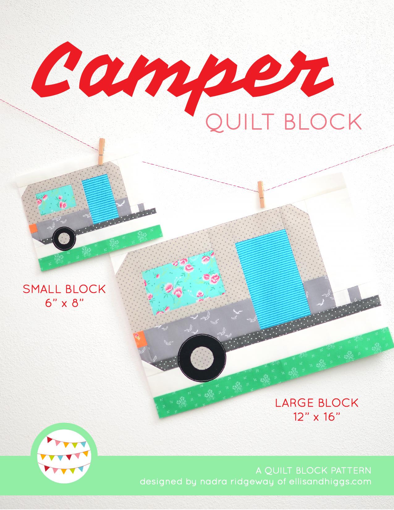 Summer quilt patterns - Camper quilt pattern