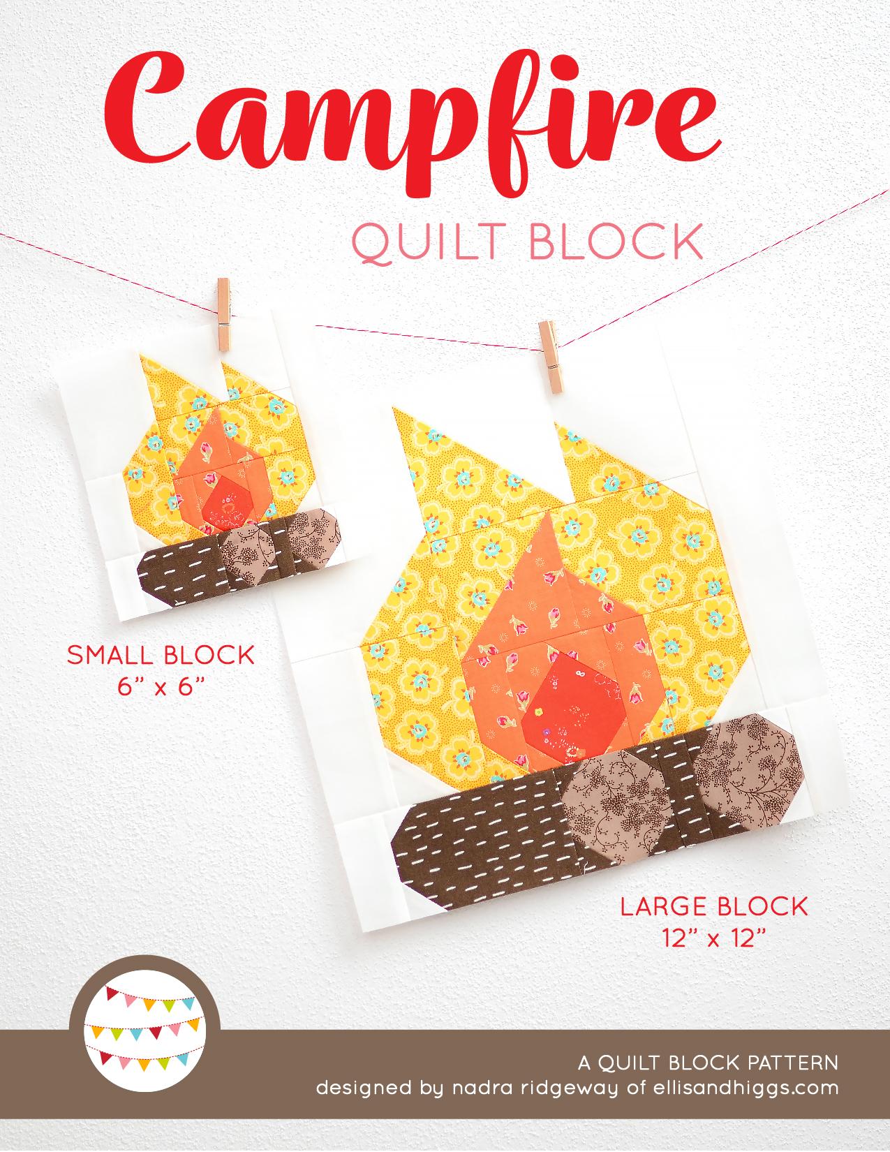 Summer quilt patterns - Campfire quilt pattern