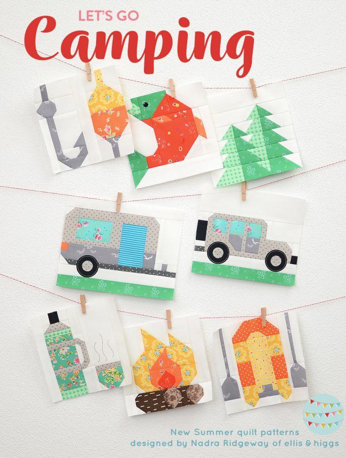 Summer quilt patterns - camping quilt patterns