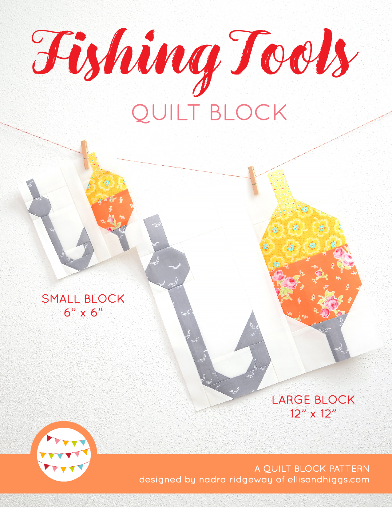 Summer quilt patterns - Fishing Tools quilt pattern