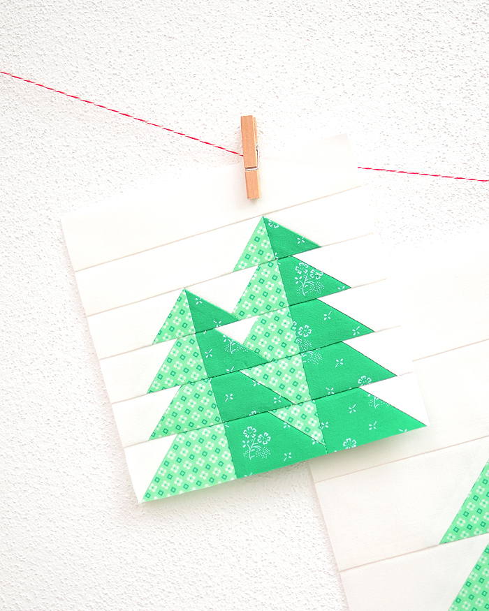 Pine Trees quilt pattern - Camping quilt patterns