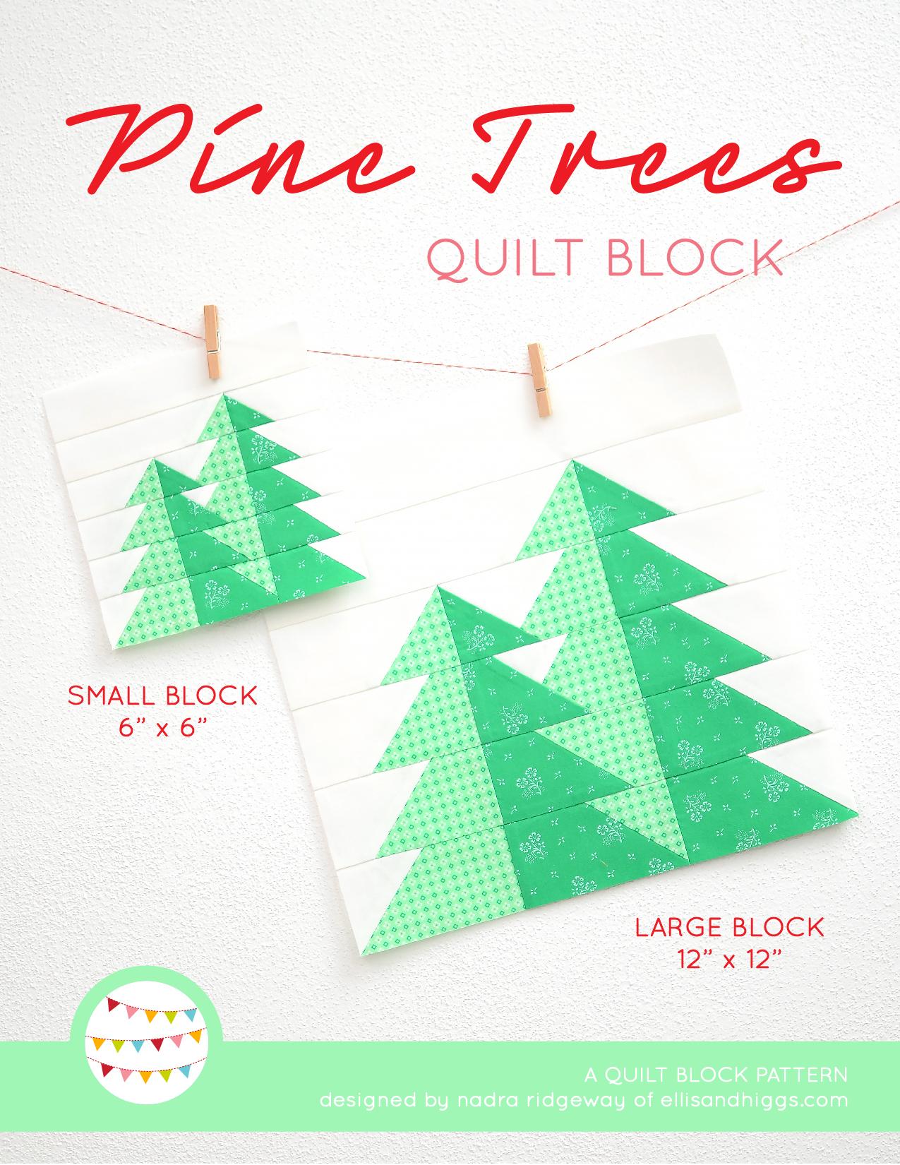 Summer quilt patterns - Pine Trees quilt pattern