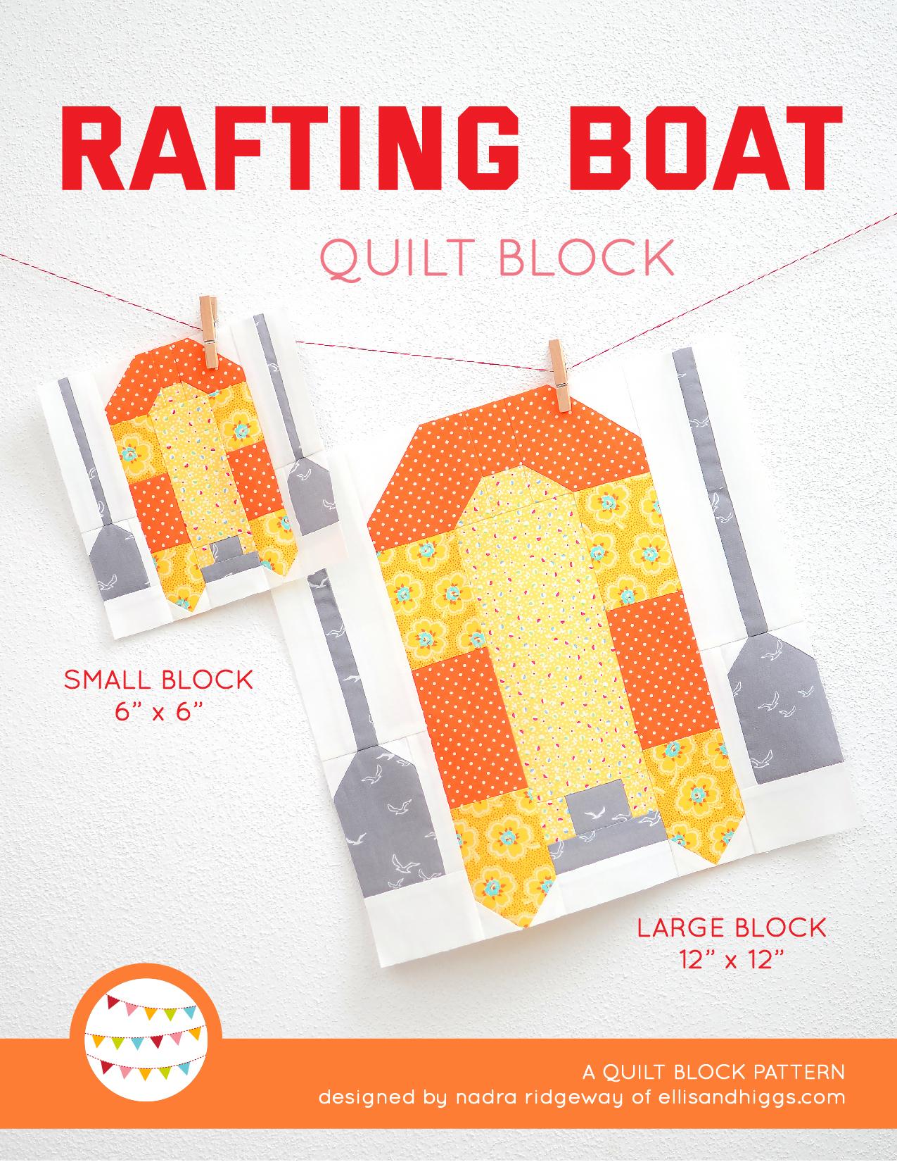 Summer quilt patterns - Rafting Boat quilt pattern