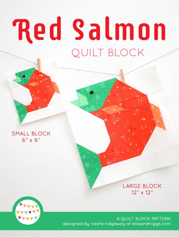 Summer quilt patterns - Red Salmon quilt pattern