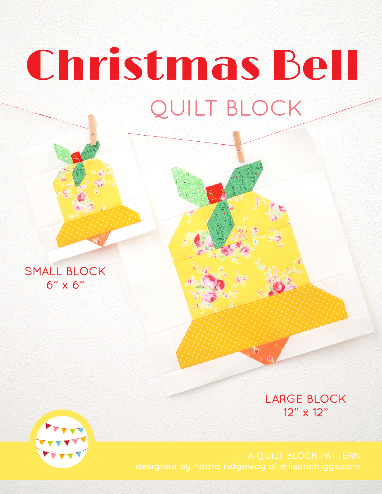 Bell Christmas quilt pattern