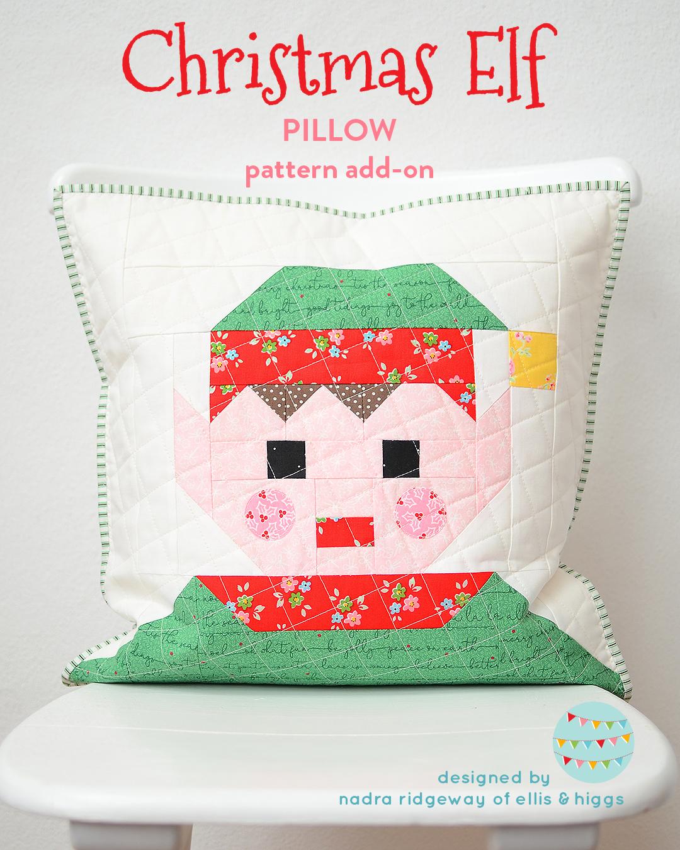 Elf Christmas pillow pattern