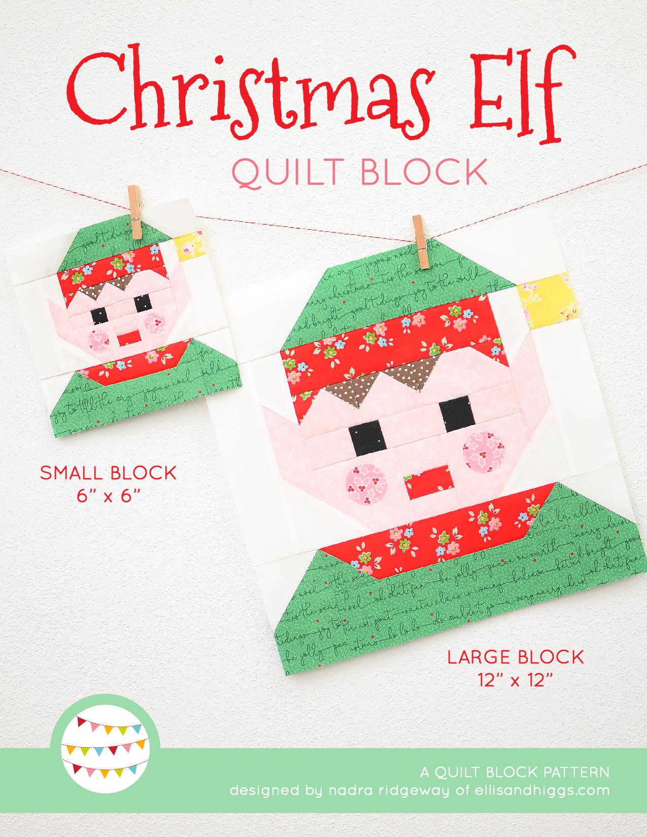 Elf Christmas quilt pattern