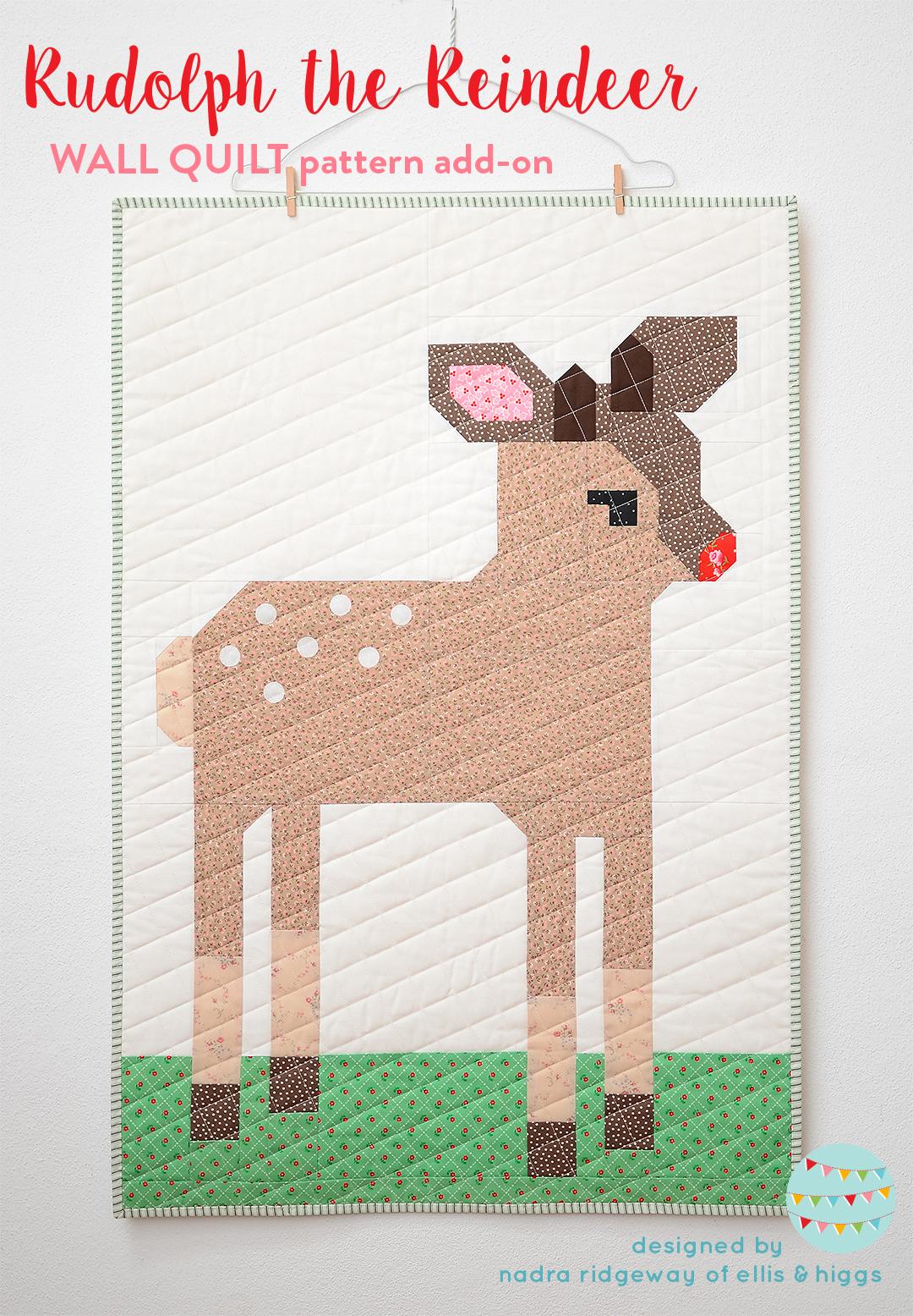 Reindeer Christmas quilt pattern