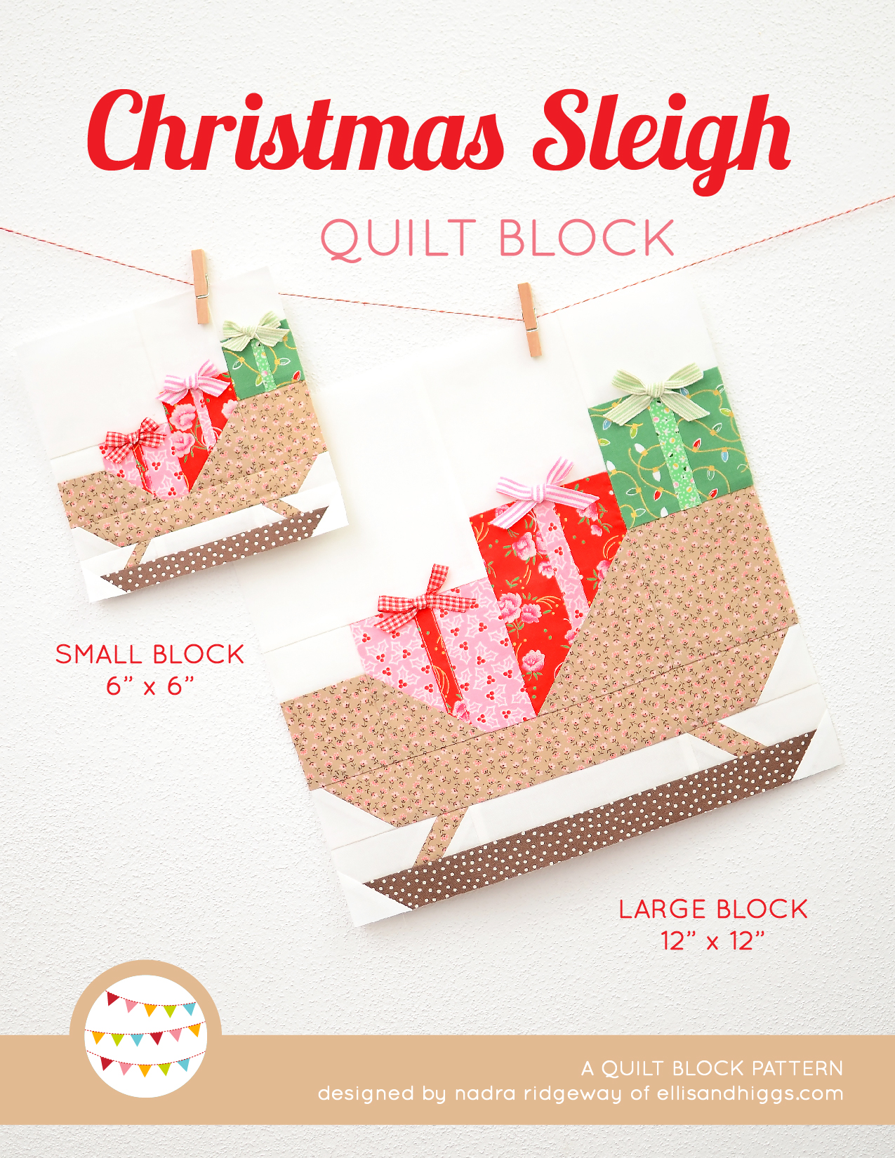 Sleigh Christmas quilt pattern