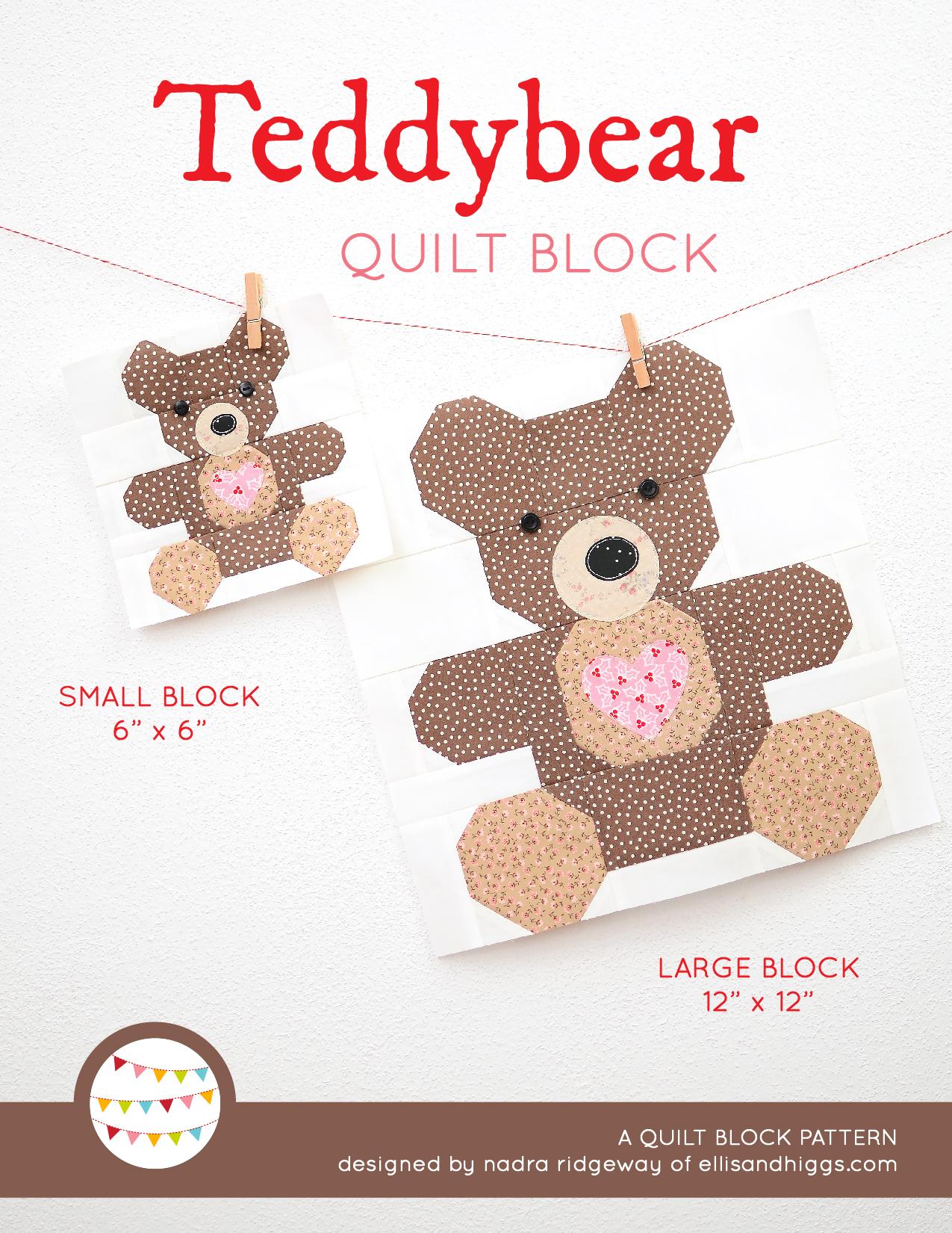 Teddy Bear Christmas quilt pattern